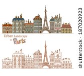 design of urban landscape and... | Shutterstock .eps vector #187020923