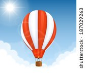 vector hot air balloon | Shutterstock .eps vector #187029263