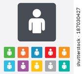 user sign icon. person symbol.... | Shutterstock . vector #187030427