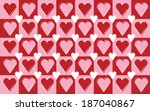 red  pink and white repeating... | Shutterstock .eps vector #187040867