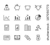 business and finance icons | Shutterstock .eps vector #187050773