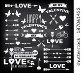 valentine's day set of symbols... | Shutterstock .eps vector #187061423