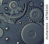 close up watch mechanism.... | Shutterstock . vector #187063163