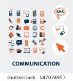 communication flat icons ...