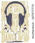 and,audio,black,blues,dance,dj,dripping,graffiti,headphones,hip,hop,illustration,ink,jazz,music