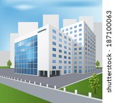 edificios,construido,clínica,emergencia,imagen,isométrica,césped,medicina,público,recuperación,servicios