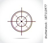 crosshair symbol created of... | Shutterstock .eps vector #187113977