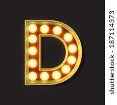 marquee light letter   vector   ... | Shutterstock .eps vector #187114373
