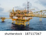 oil platform on the sea | Shutterstock . vector #187117367