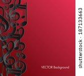 music background. | Shutterstock .eps vector #187133663