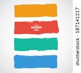 summer style grunge banners | Shutterstock .eps vector #187141217