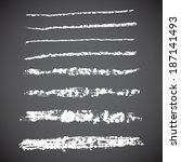 brush strokes   set   vector... | Shutterstock .eps vector #187141493
