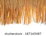 Closeup Of Thatch Roof Isolate...