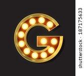 marquee light letter   vector   ... | Shutterstock .eps vector #187175633