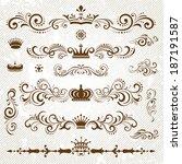 vintage decoration design... | Shutterstock .eps vector #187191587