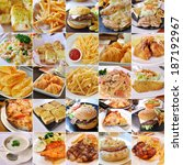 collage of  fast food products | Shutterstock . vector #187192967