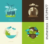 set of vector flat design... | Shutterstock .eps vector #187199477