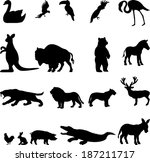 alligator,animals,art,background,bear,bird,bison,buffalo,camel,cock,cockatoo,collection,crocodile,deer,design