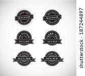 sale discount badges | Shutterstock .eps vector #187244897