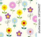 abstract flower seamless... | Shutterstock .eps vector #187246907