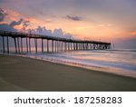 Sunrise At Fishing Pier On The...