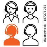 call center operator icons....