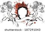 lion heraldic coat of arms... | Shutterstock .eps vector #187291043