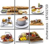 composition  of images of... | Shutterstock . vector #187322723