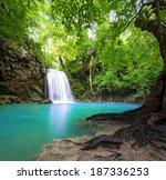Waterfall Landscape Background...
