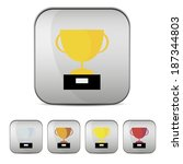 golden  silver  bronze and red... | Shutterstock .eps vector #187344803