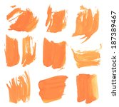 realistic strokes thick orange... | Shutterstock .eps vector #187389467