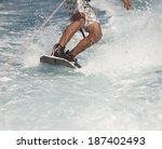 Closeup Detail Of Wakeboarder...