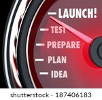 launch word speedometer test... | Shutterstock . vector #187406183