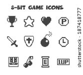 8-bit,art,award,black,bomb,cartoon,chest,clock,collection,cute,design,element,fun,game,graphic