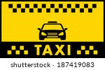advertise taxi background with... | Shutterstock . vector #187419083