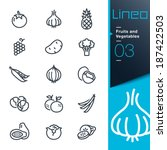 lineo   fruits and vegetables... | Shutterstock .eps vector #187422503