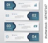 design clean number banners... | Shutterstock .eps vector #187437167