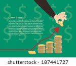 Money Graph Hand  Vector