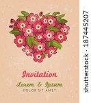 beautiful vector greeting card...   Shutterstock .eps vector #187445207