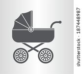 pram  baby carriage  icon | Shutterstock .eps vector #187448987