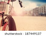 bike and summer in city  | Shutterstock . vector #187449137