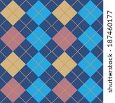 Argyle Blue Seamless Pattern...