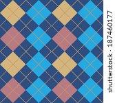 Argyle Blue Seamless Pattern...