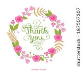 thank you. beautiful greeting... | Shutterstock .eps vector #187507307