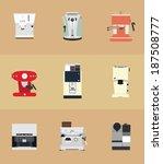 9 coffee machine | Shutterstock .eps vector #187508777