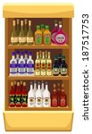 shop alcoholic beverages.... | Shutterstock . vector #187517753