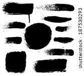 black blobs set  vector... | Shutterstock .eps vector #187530293
