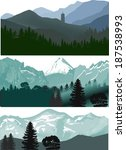 set of three landscapes with...   Shutterstock .eps vector #187538993