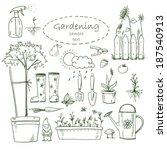 gardening design elements | Shutterstock . vector #187540913