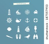 nautical icon set | Shutterstock .eps vector #187557953